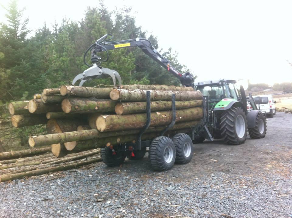 Skogsarbeid - fliskutting